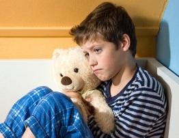 Sad and depressed boy
