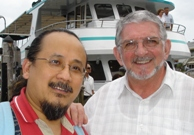 Roger Saxelby with Dr Casey Chau