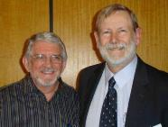 Roger Saxelby with Roy Hunter